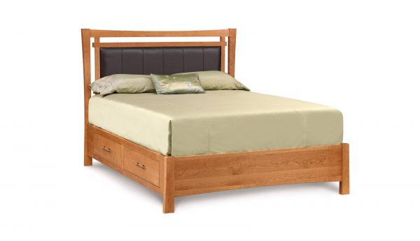 Monterey Bed With Storage And Upholstered Headboard