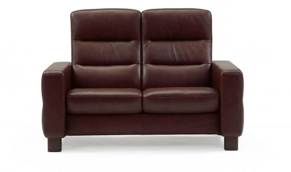 Stressless Wave (M) High Back Loveseat