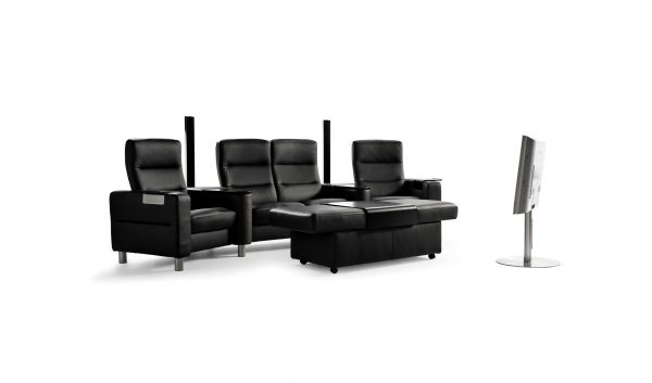 Stressless Wave Home Theater Sectional