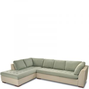 American Leather Astoria Two Tone Sectional Angle