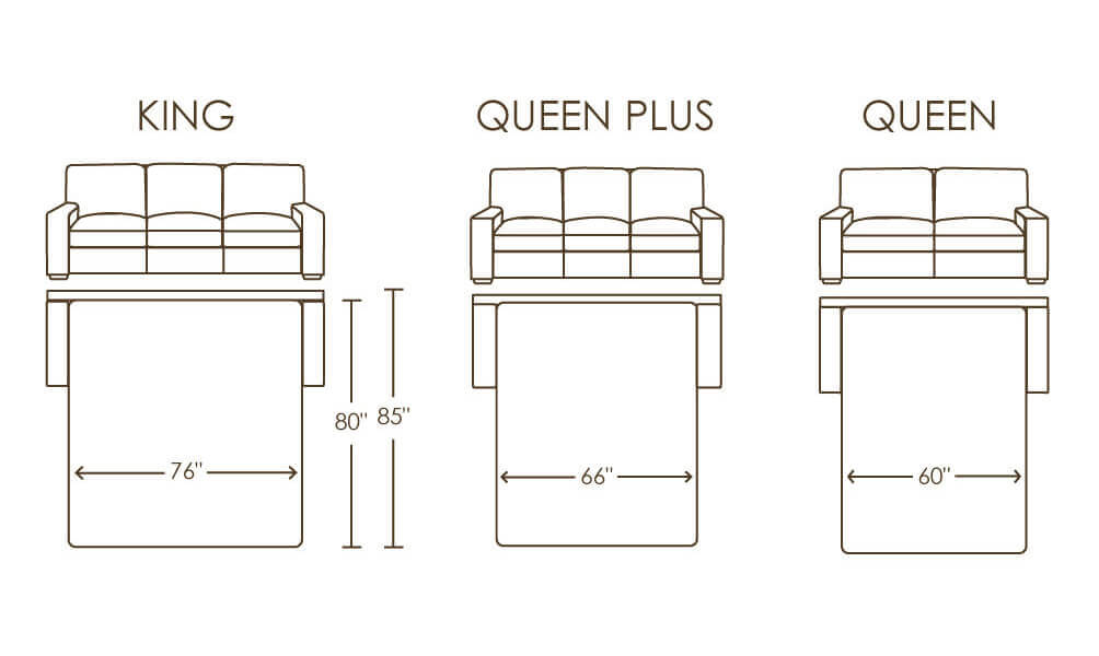 ... American Leather Comfort Sleeper Queen Queen Plus King Bed Sizes