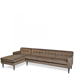 American Leather Quincy Sectional Chaise