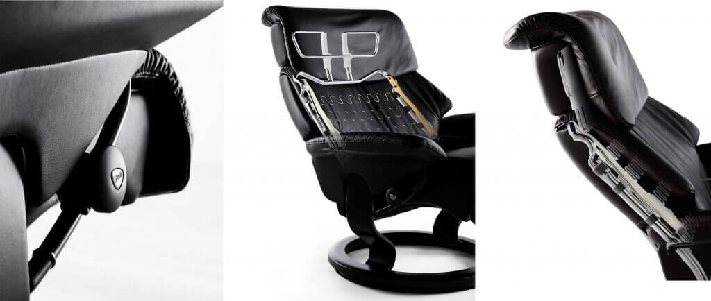 Stressless Construction Plus System and Slide Hansen Interiors