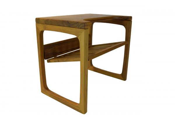 Scandinavia Teak End Table With Front Cut