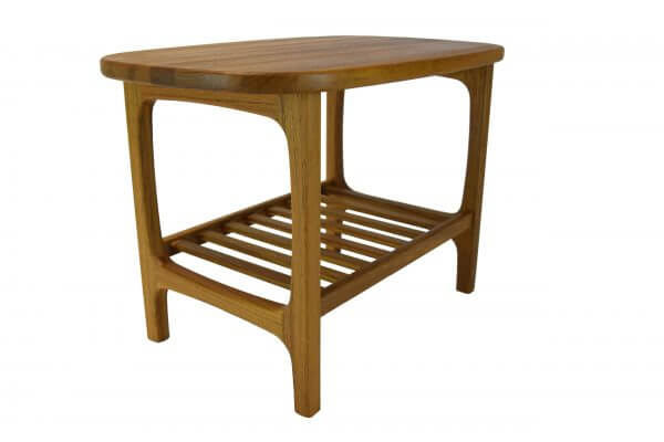 Scandinavia Teak Lamp Table With Shelf