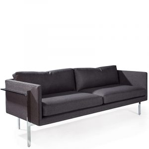 Thayer Coggin Sofa Drop In Fabric Plated Steel Front