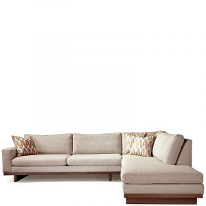 Thayer Coggin LA Sectional 1256 Fabric Walnut
