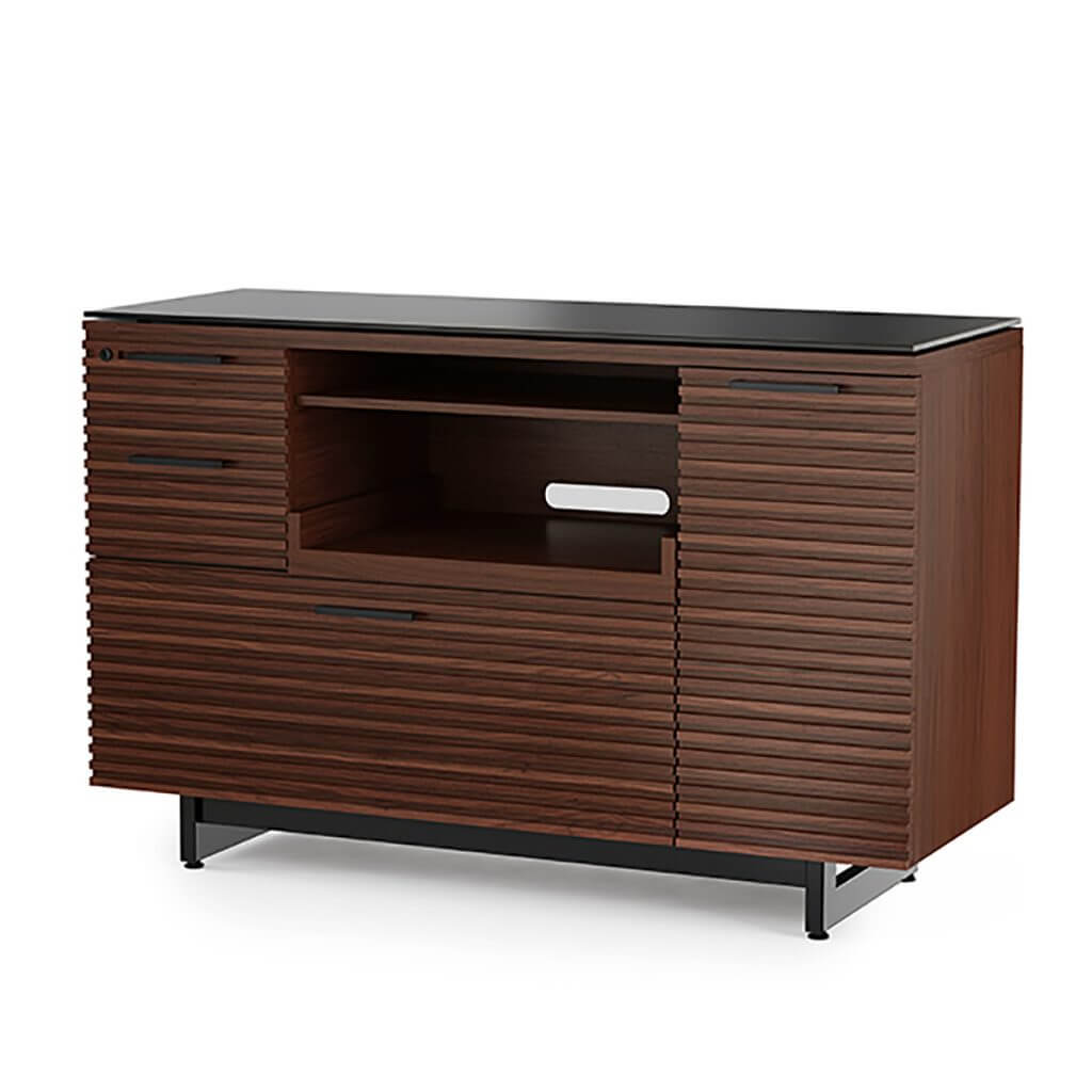 BDI Corridor 6520 Multifunction Cabinet Chocolate Stain Walnut