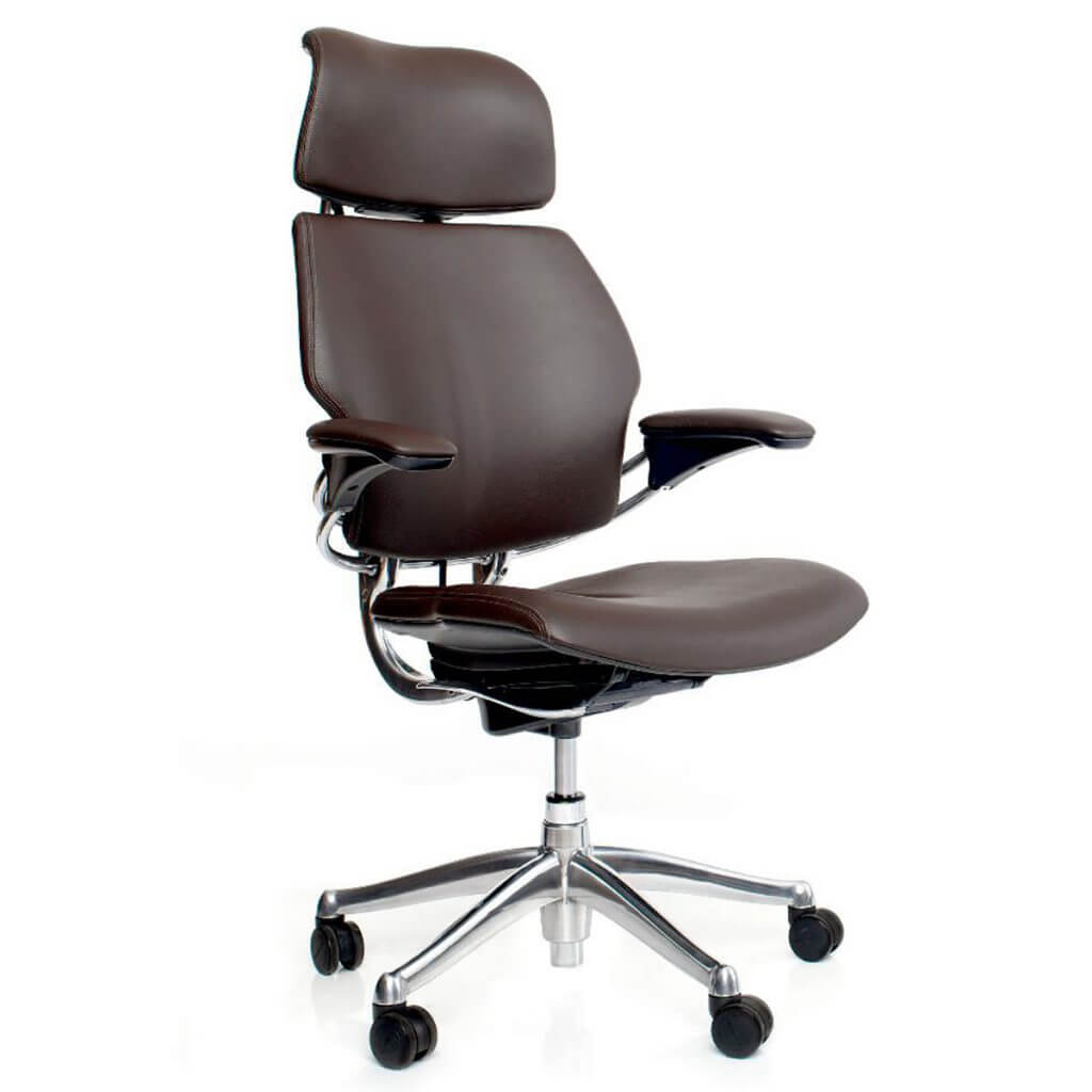 Freedom Headrest Brown Leather Ergo