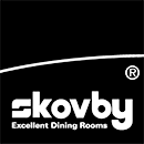 Skovby Logo Black and White PNG