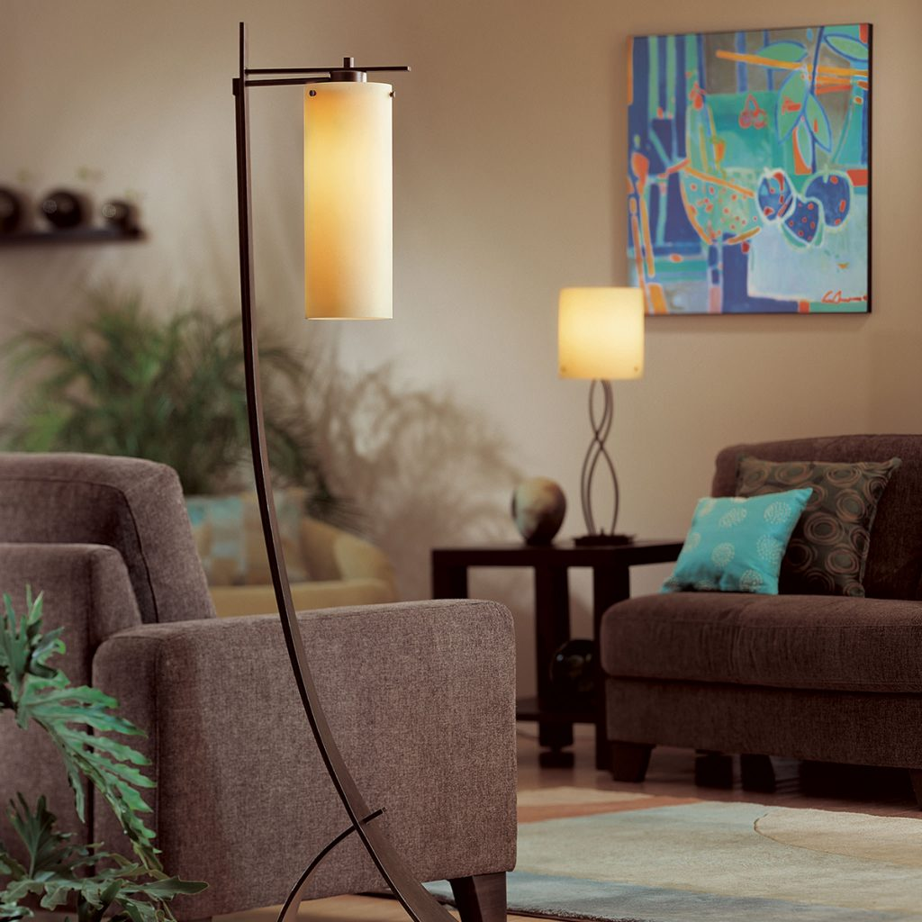 Hubbardton Forge Stasis Floor Lamp with Glass Environment