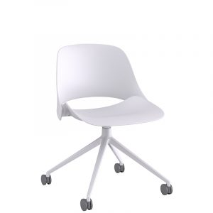 Humanscale Trea Chair Star Base White Angle