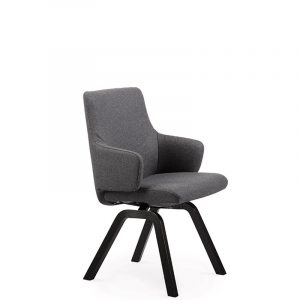 Stressless Laurel D200 Large Low Back Arm Calido Dark Grey Hansen Interiors