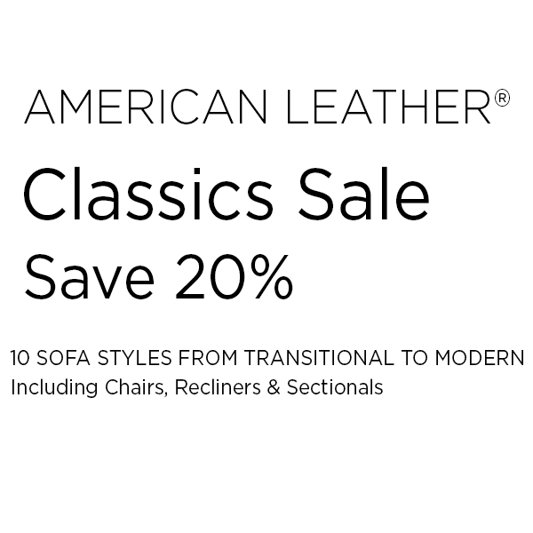 American Leather CLassic Collection Sale Wording Hansen Interiors