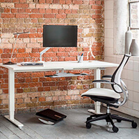 Humanscale Sit Stand Desk and Freedom Chair
