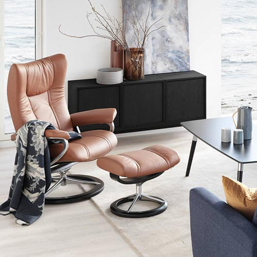Stressless Wing in a Living Room Setting