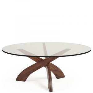 Copeland Entwine Round Glass Top Coffee Table