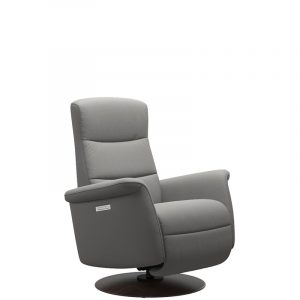 Ekornes Stressless Mike Recliner Paloma Silver Grey Wenge Angle Hansen Interiors