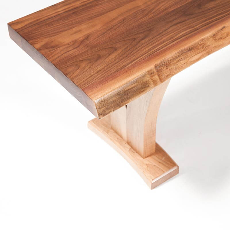 Live Edge Walnut Bench Trestle