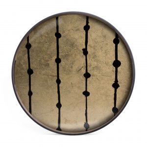 Ethnicraft Tray Brown Dots