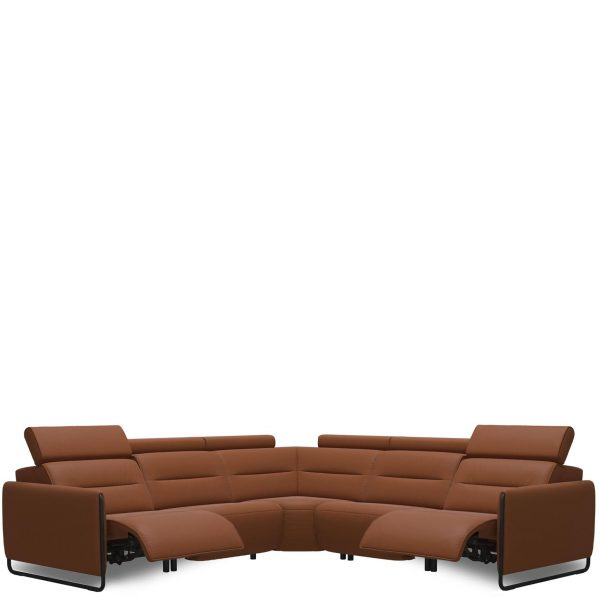 Stressless Emily Power Sectional Steel Arm
