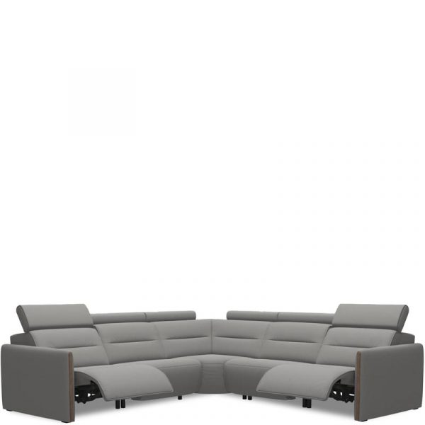 Stressless Emily Power Sectional Wood Arm