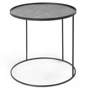 Ethnicraft 20339 Round Tray Side Table Large