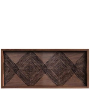 Walnut Linear Squares Rectangle